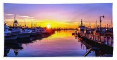 San Diego Harbor Sunrise Beach Towel