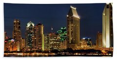 San Diego Night Beach Towel