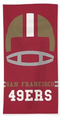 San Francisco 49ers Vintage Art Beach Sheet by Joe Hamilton
