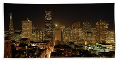 San Francisco At Night Beach Towel