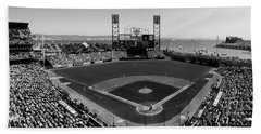 San Francisco Ballpark Bw Beach Towel