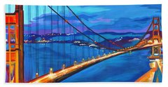 San Francisco Bay Blues  Beach Towel