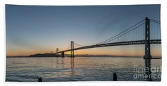 San Francisco Bay Brdige Just Before Sunrise Beach Towel