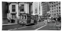 San Francisco Cable Car During Wwii Beach Towel