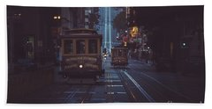 San Francisco Cable Cars Beach Sheet by JR Photography