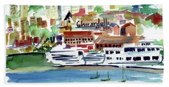 San Francisco Cityfront From Aquatic Park Beach Towel by Tom Simmons