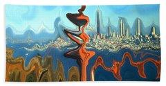 San Francisco Earthquake - Modern Art Beach Towel