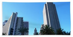 San Francisco Embarcadero Center Beach Towel by Matt Harang