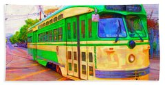 San Francisco F-line Trolley Beach Sheet