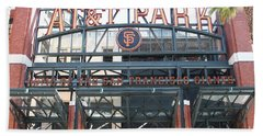 San Francisco Giants Att Park Willie Mays Entrance . 7d7635 Beach Towel