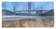 San Francisco Golden Gate Bridge In California Beach Towel