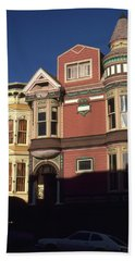 San Francisco Haight Ashbury - Photo Art Beach Towel