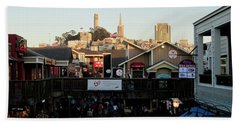San Francisco In The Sun Beach Towel by Tony Mathews