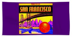 San Francisco Oranges Beach Towel