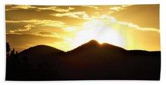 San Francisco Peaks At Sunset Beach Towel