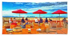San Francisco Skyline From Alameda  Beach Towel by Linda Weinstock
