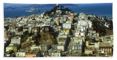 San Francisco - Telegraph Hill And Alcatraz Beach Sheet