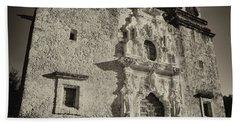 Beach Sheet featuring the photograph San Jose Mission - San Antonio by Stephen Stookey