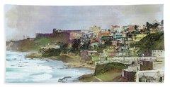 Beach Towel featuring the photograph San Juan By The Ocean by John Rivera