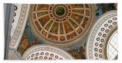 Beach Towel featuring the photograph San Juan Capital Building Ceiling by Lois Lepisto