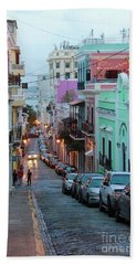 San Juan Evening Glow Beach Towel