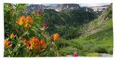 San Juans Indian Paintbrush Landscape Beach Sheet