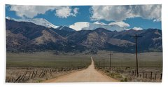San Luis Valley Back Road Cruising Beach Sheet by James BO Insogna
