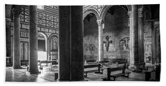 Beach Towel featuring the photograph San Miniato Al Monte by Sonny Marcyan