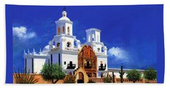 San Xavier Del Bac Mission Beach Sheet by M Diane Bonaparte