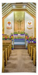 Beach Towel featuring the photograph Sanctuary At Easter by Nick Zelinsky