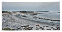 Sand Along The Shoreline Beach Sheet by Richard Bean