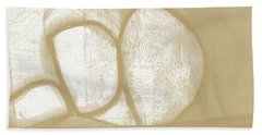 Sand And Stone 1- Contemporary Abstract Art By Linda Woods Beach Towel