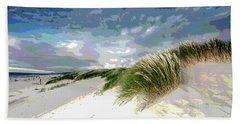 Sand And Surfing Beach Towel by Charles Shoup