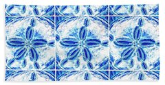 Beach Towel featuring the digital art Sand Dollar Delight Pattern 3 by Monique Faella