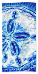 Beach Towel featuring the painting Sand Dollar by Monique Faella