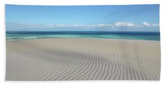 Sand Dune Ripples And The Ocean Beyond Beach Sheet