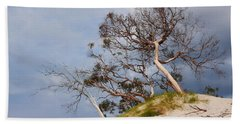 Sand Dune With Bent Trees Beach Towel by Lexa Harpell
