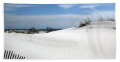 Beach Towel featuring the photograph Sand Dunes Dream by Marie Hicks
