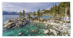 Sand Harbor Views Beach Towel