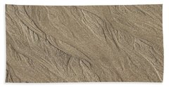 Beach Towel featuring the photograph Sand Patterns by Living Color Photography Lorraine Lynch