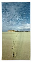 Beach Towel featuring the photograph Sand Script by The Walkers