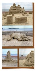 Sand Sculpture Collage Beach Towel