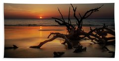 Sand Surf And Driftwood Beach Towel