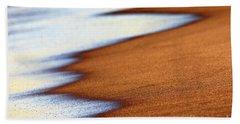 Sand And Waves Beach Sheet by Tony Cordoza