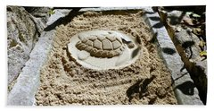 Beach Towel featuring the photograph Sand Turtle Print by Francesca Mackenney