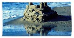 Sandcastle On Beach Beach Towel