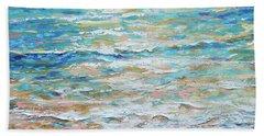 Sanderlings Beach Towel by Linda Olsen