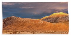 Beach Towel featuring the photograph Sandia Crest Stormy Sunset 2 by Alan Vance Ley