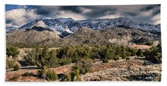 Sandia Mountain Landscape Beach Towel by Alan Toepfer