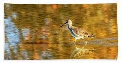 Sandpiper At Bunche Beach Beach Towel